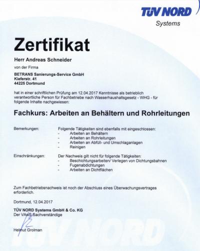 zertifikat-rohrleitungen